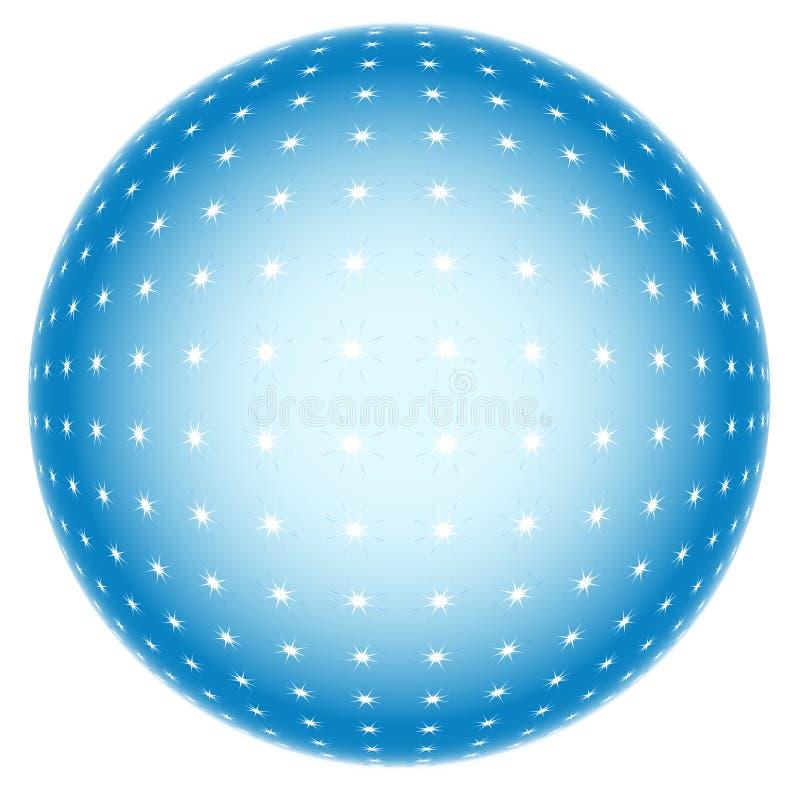 esfera 3d abstrata ilustração stock
