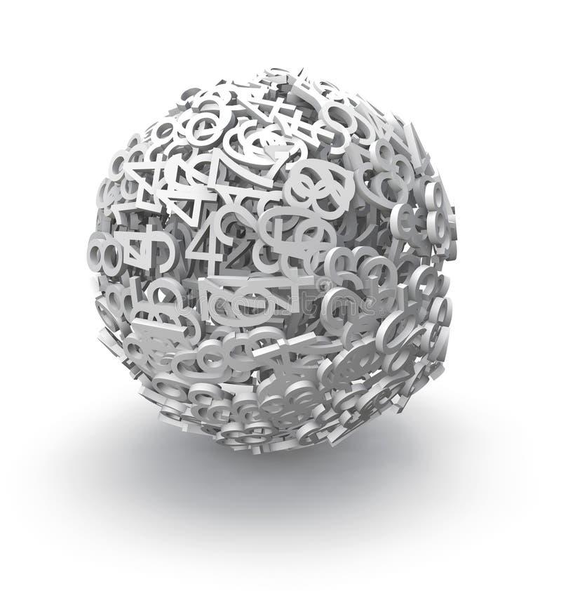 esfera 3d de números libre illustration