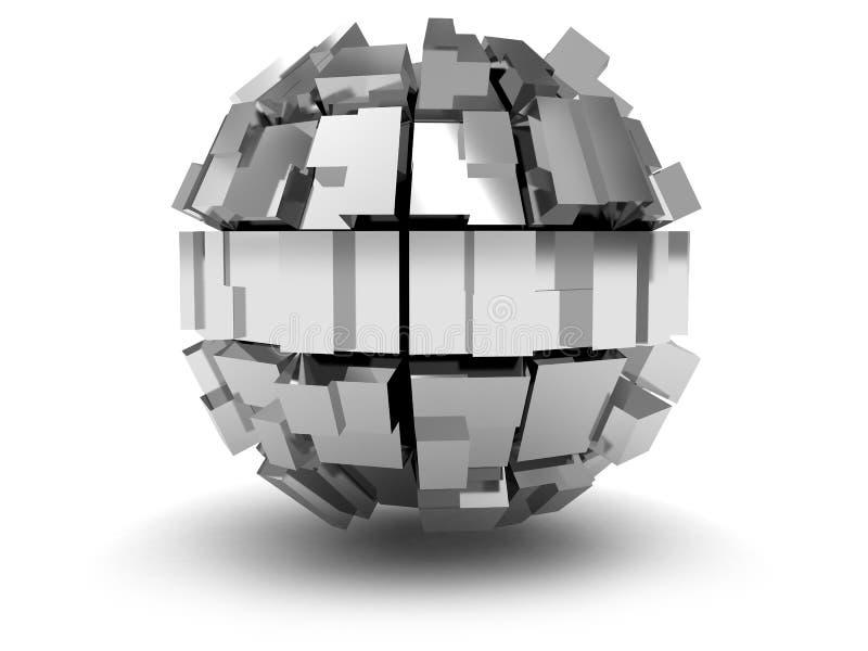 Esfera abstracta 3d stock de ilustración