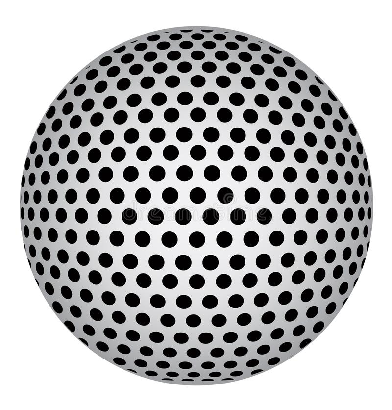 Esfera abstracta 3D con los puntos negros del círculo Ilustración del vector ilustración del vector