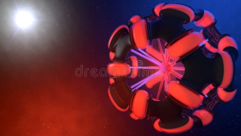 Esfera abstracta del espacio libre illustration