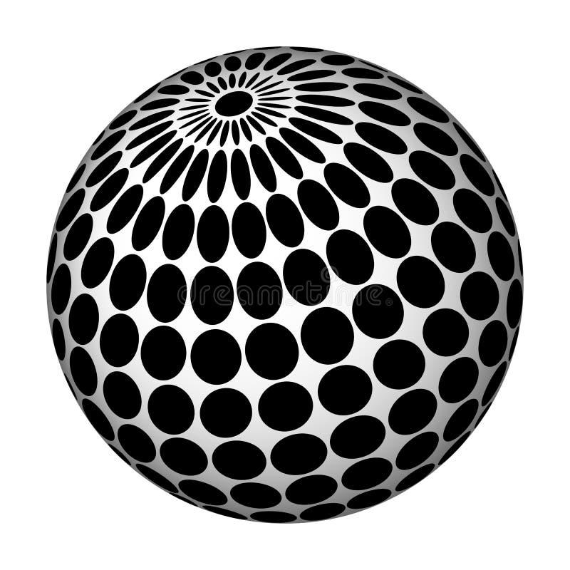 Esfera abstrata. ilustração royalty free