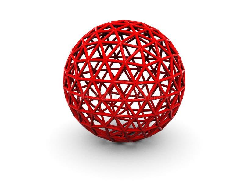 Esfera abstrata ilustração stock