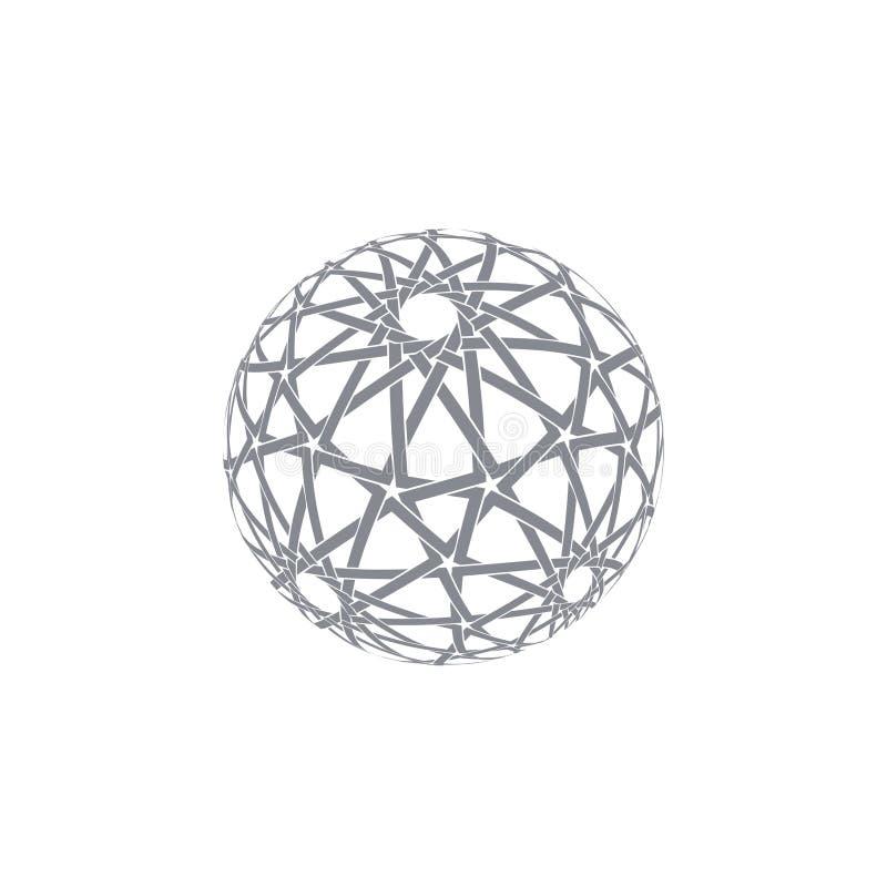 Esfera abstrata com teste padrão árabe tradicional ilustração royalty free