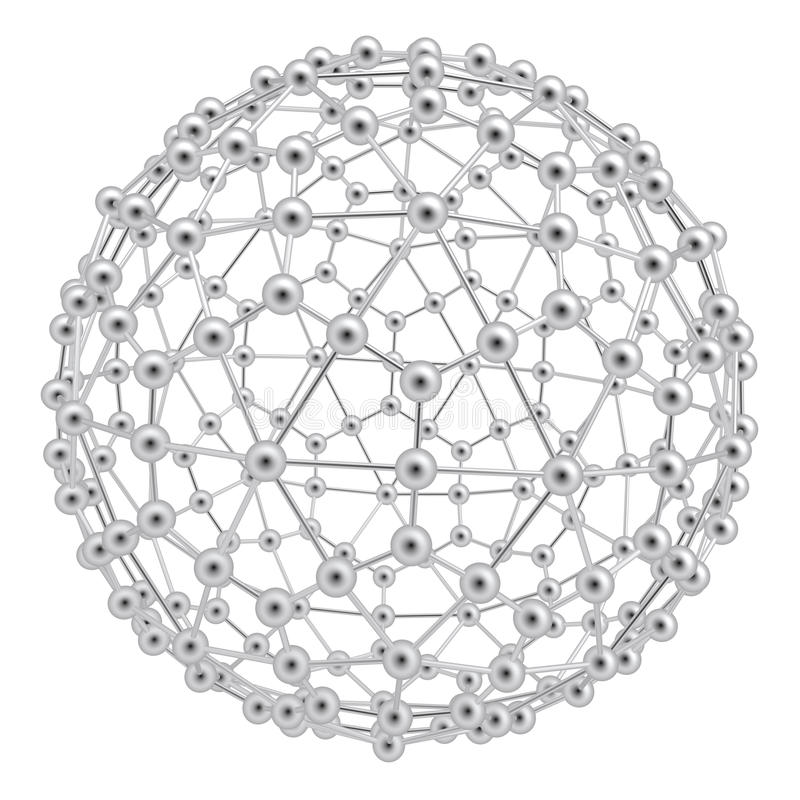 Esfera abstrata do átomo ilustração stock