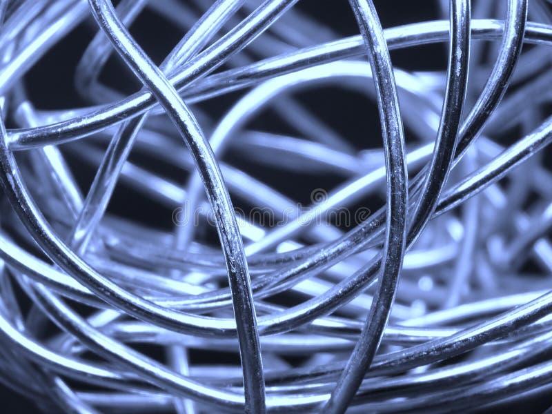 Esfera abstrata do fio de prata fotografia de stock royalty free