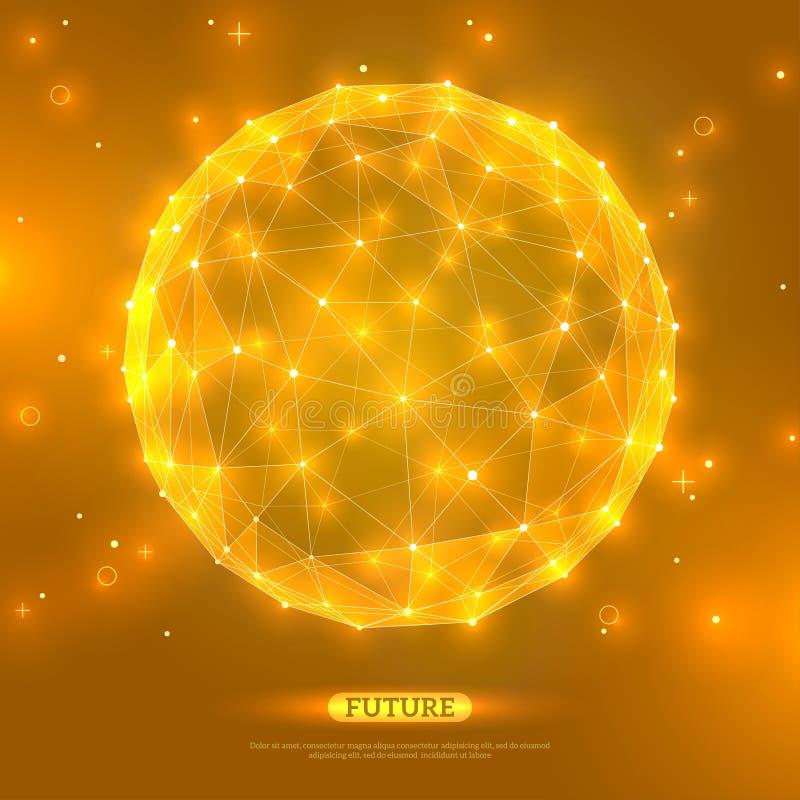 Esfera abstrata do vetor Tecnologia futurista ilustração royalty free