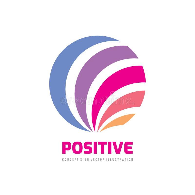 Esfera abstrata positiva - projeto do logotipo do negócio do vetor ilustração do vetor