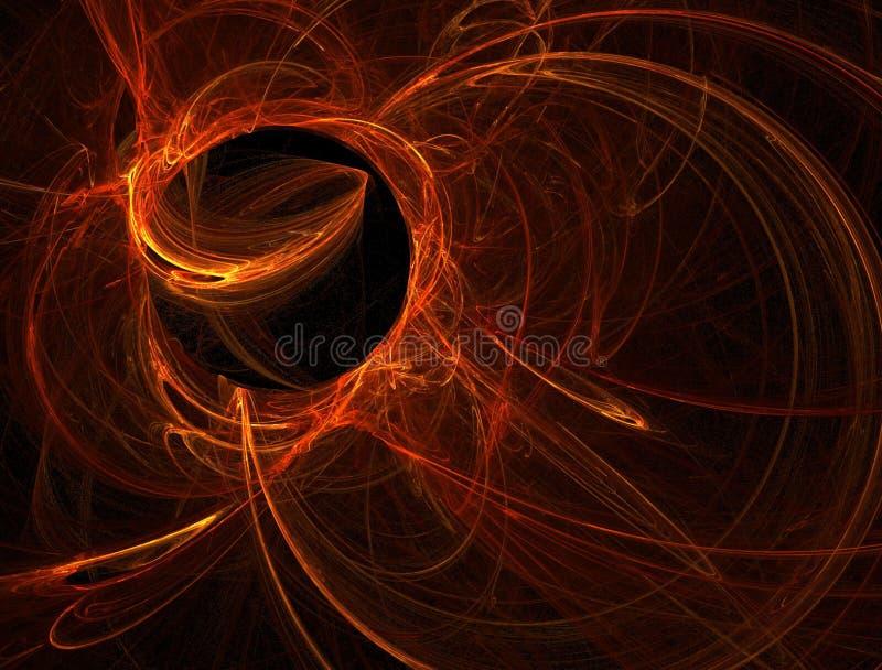Esfera alaranjada do plasma ilustração royalty free