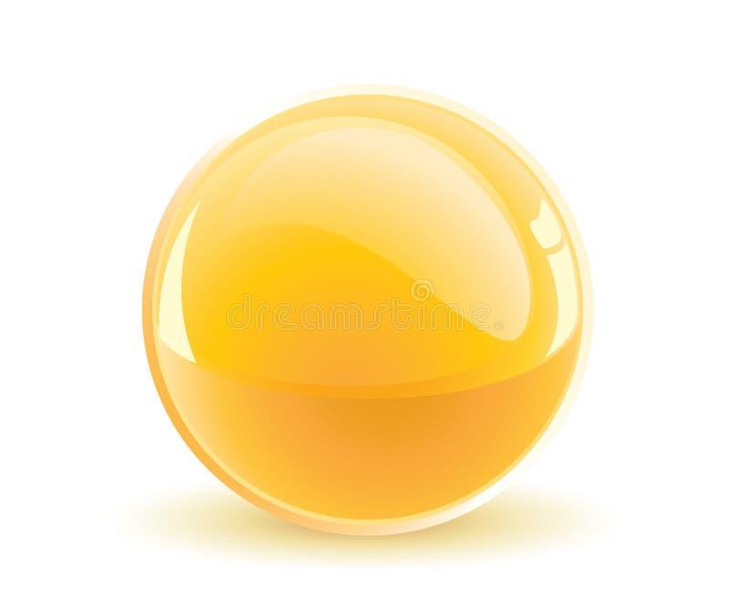 Esfera amarela ilustração stock