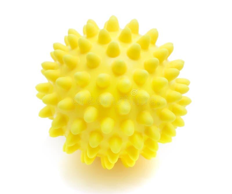 Esfera amarela da massagem imagem de stock