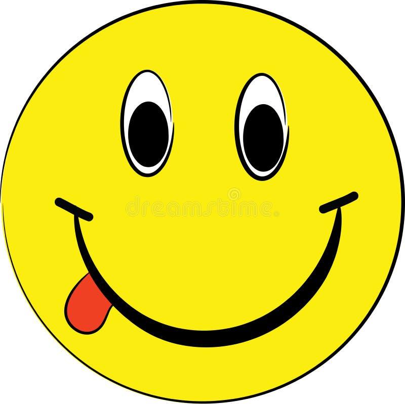 Esfera amarela de sorriso imagem de stock