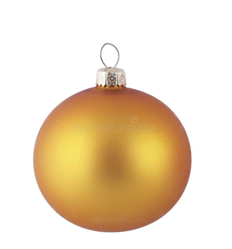 Esfera amarela do Natal imagens de stock