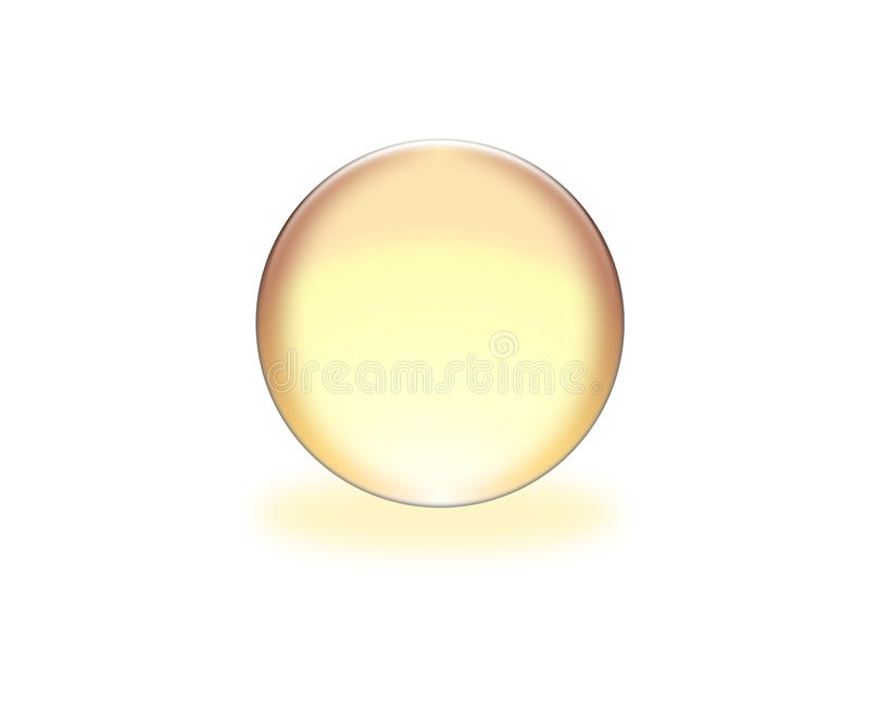 esfera amarilla 3d stock de ilustración