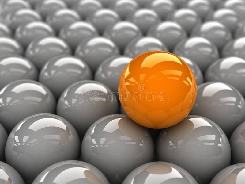 Esfera amarilla ilustración del vector
