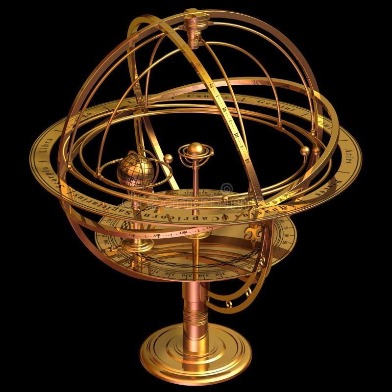 Esfera Armillary ilustração do vetor