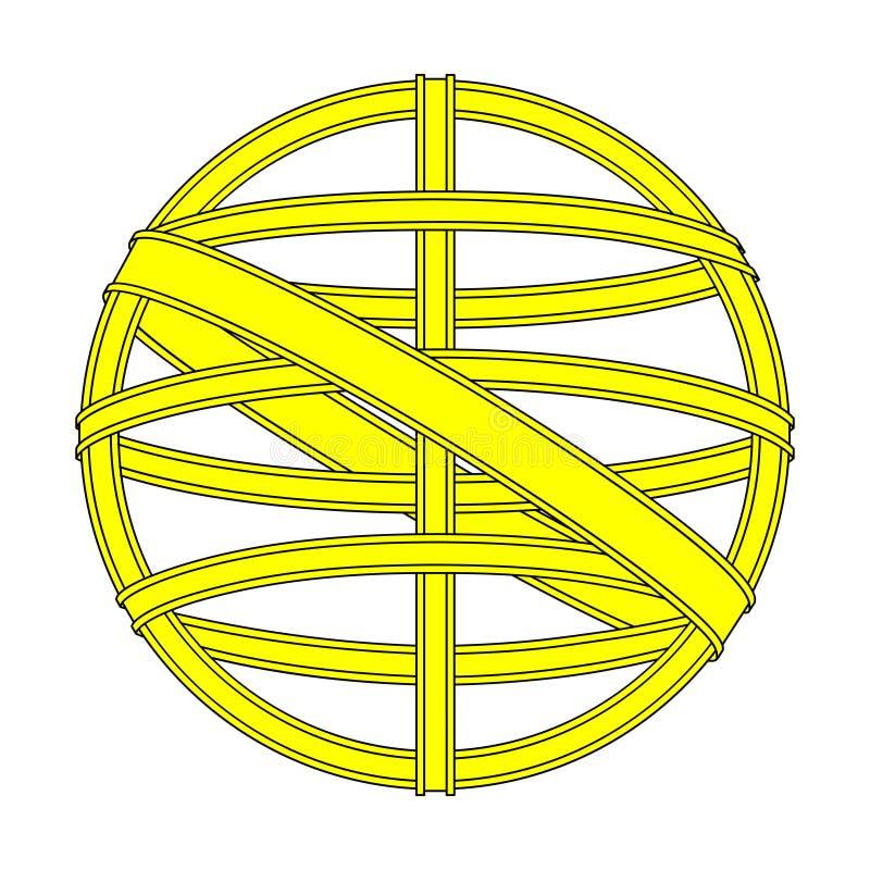 Esfera armillary do dispositivo da navegação do vintage do símbolo ilustração royalty free