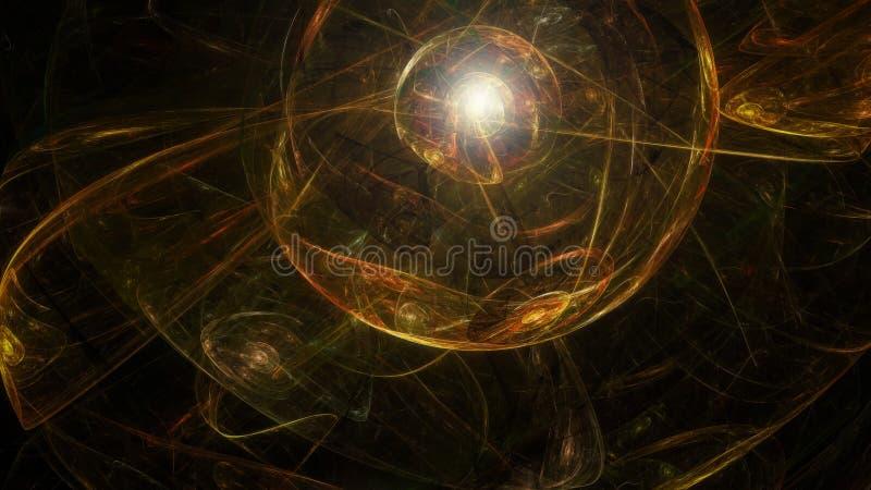 Esfera artística escura abstrata ilustração do vetor