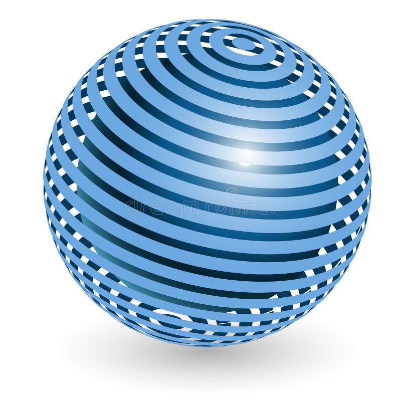 Esfera azul ilustração do vetor