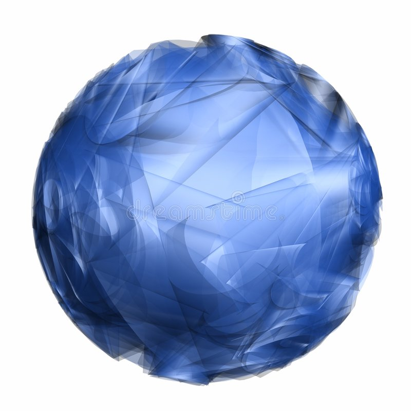 Esfera azul abstrata ilustração stock