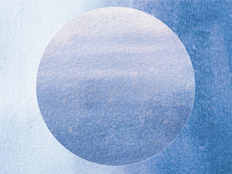 Esfera azul da aquarela ilustração do vetor