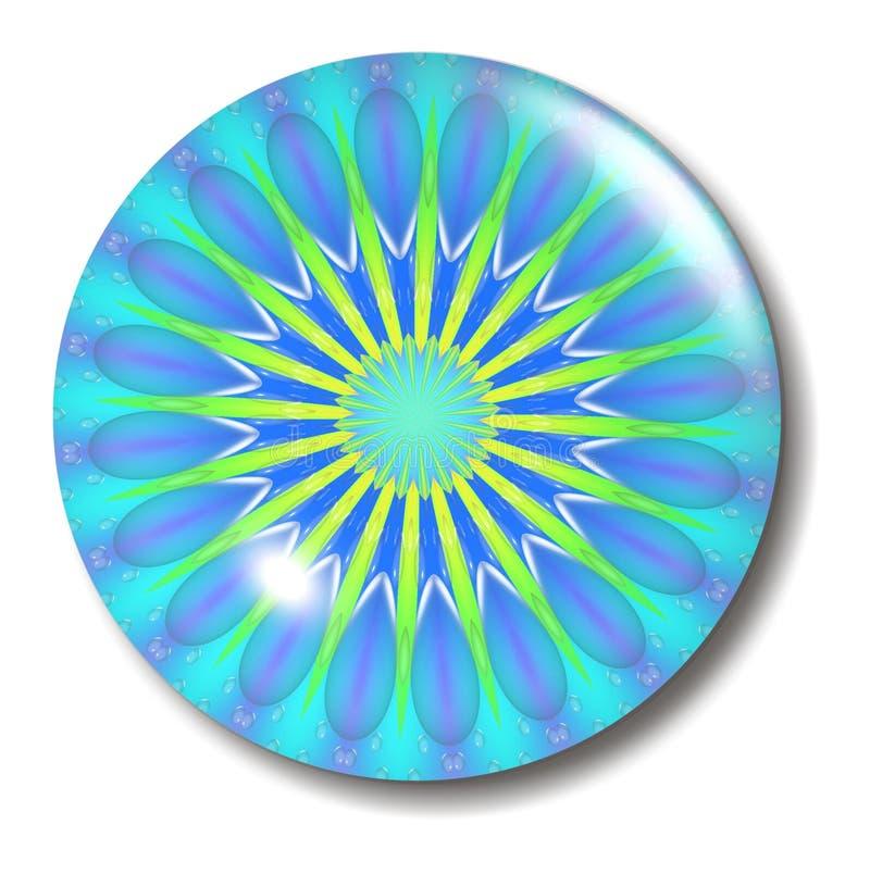 Esfera azul da tecla ilustração royalty free
