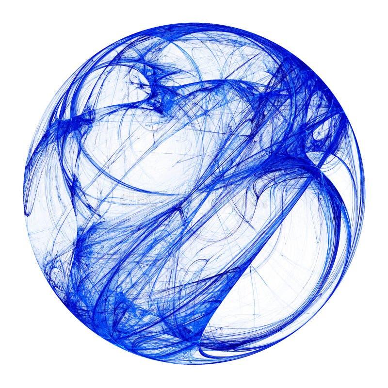 Esfera azul del fractal libre illustration