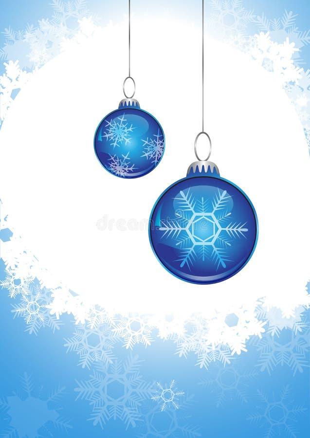 Esfera azul do Natal ilustração royalty free
