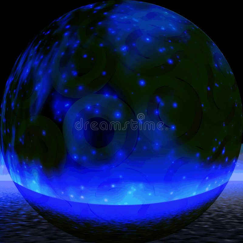 Esfera azul místico ilustração stock