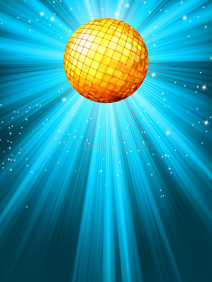 Esfera azul Sparkling do disco. EPS 8 ilustração royalty free
