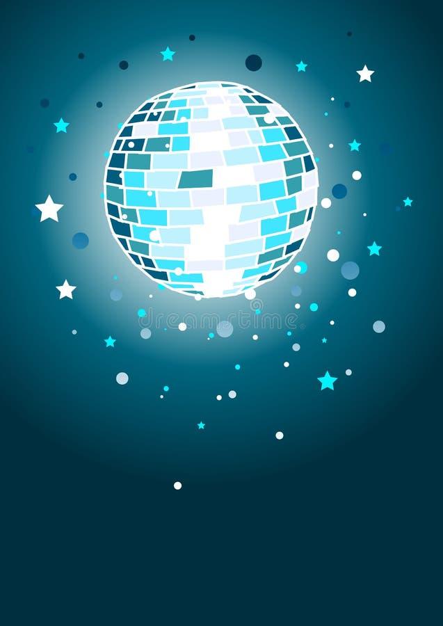 Esfera brilhante do disco ilustração stock