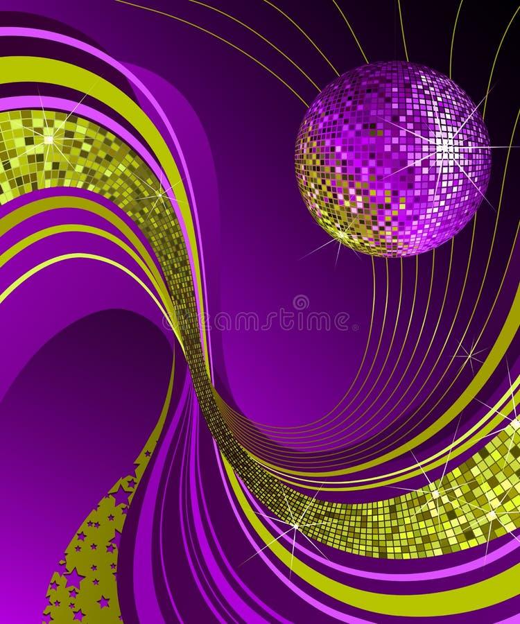 Esfera brilhante do disco. ilustração do vetor