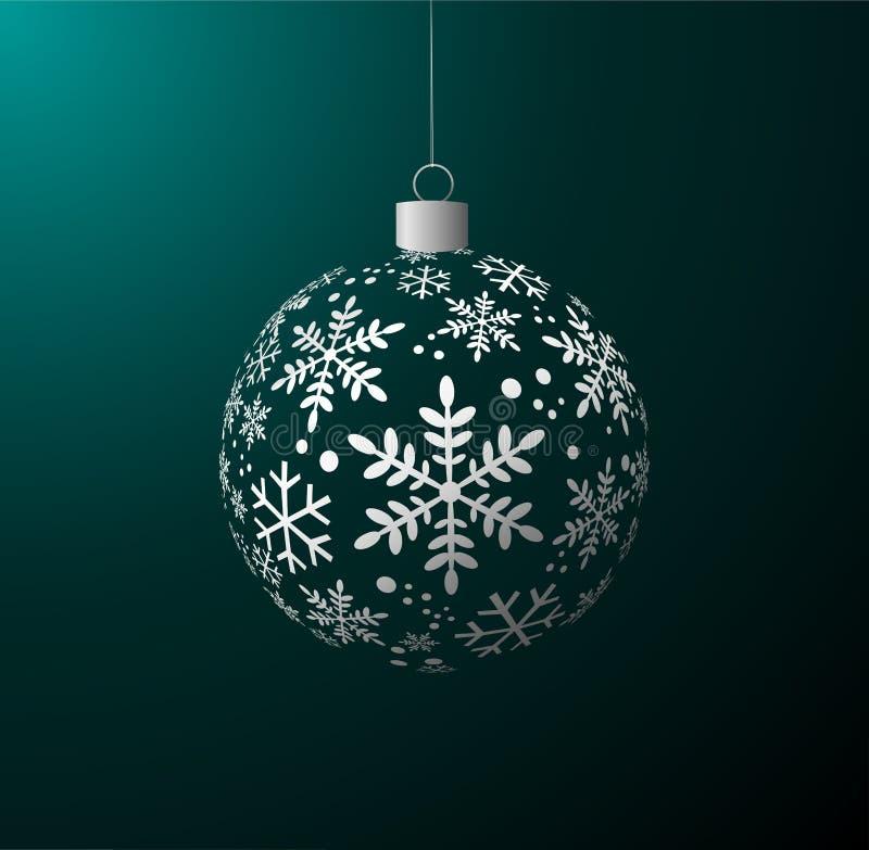 Esfera brilhante do Natal ilustração do vetor