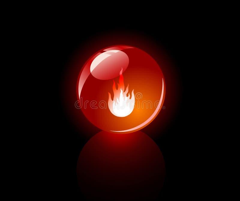 Esfera brillada (roja) fotos de archivo libres de regalías
