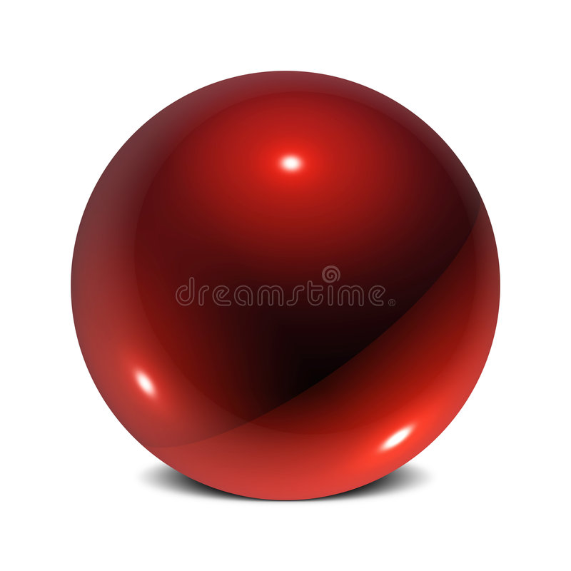 Esfera brillante ilustración del vector