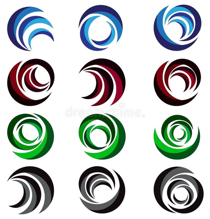 Esfera, círculo, logotipo, global, abstrato, negócio, empresa, corporaçõ, infinidade, grupo de projeto redondo do vetor do símbol ilustração do vetor