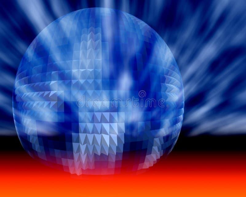 Esfera cósmica del asunto, de la ciencia y de la tecnología ilustración del vector