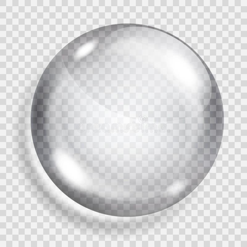 Esfera cinzenta transparente ilustração royalty free