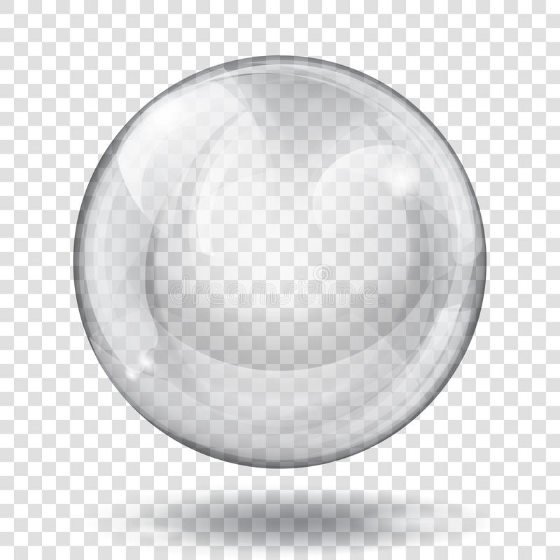 Esfera cinzenta transparente ilustração stock