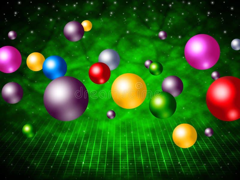 Esfera colorida y colores de la bola de los medios de la explosión libre illustration
