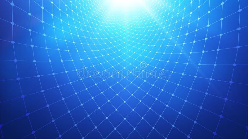 A esfera com conexão de rede alinha para o conceito da tecnologia ilustração do vetor