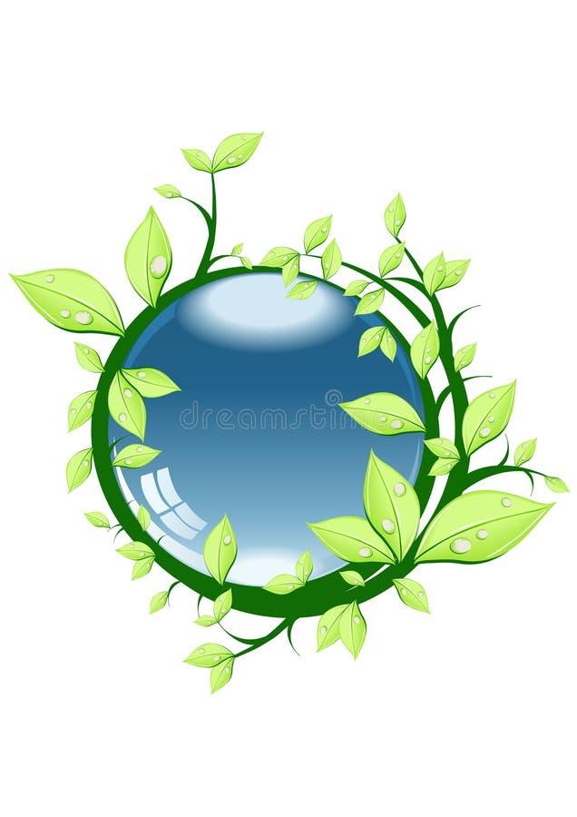Download Esfera com folhas ilustração stock. Ilustração de botany - 12800319