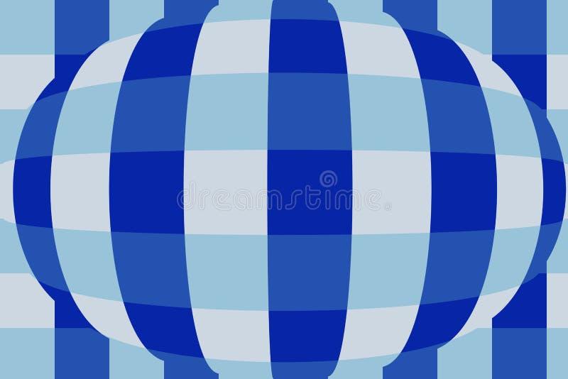 Esfera com verificadores Fundo muito bonito, original! ilustração stock