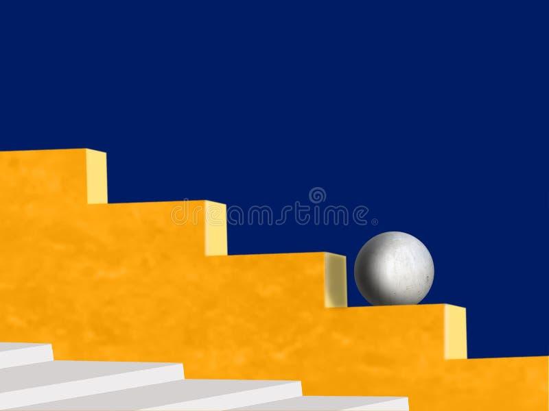 Esfera concreta na parede imagem de stock