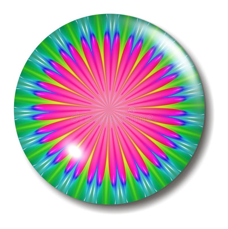 Esfera cor-de-rosa da tecla da flor ilustração royalty free