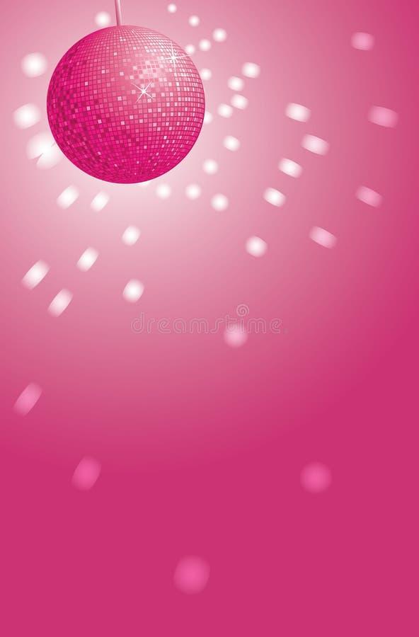 Esfera cor-de-rosa do disco ilustração stock