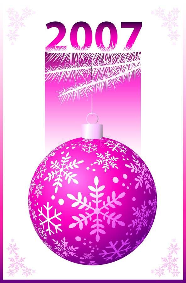 Esfera cor-de-rosa do Natal - vetor ilustração royalty free
