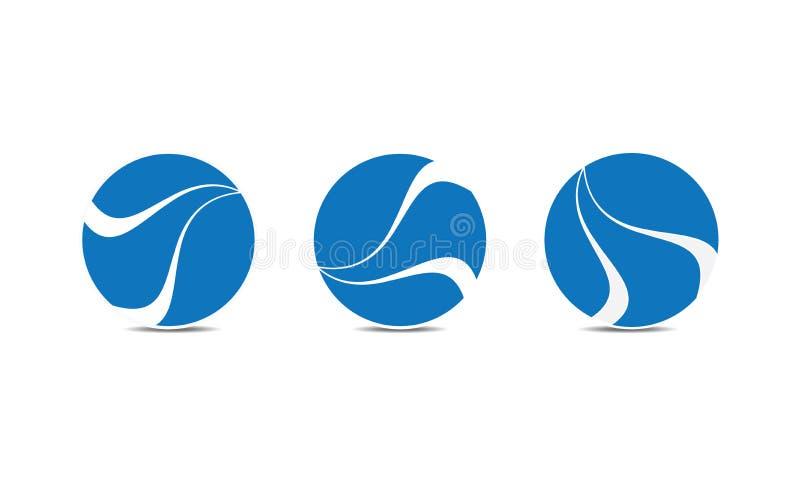 Esfera criativa azul Logo Template - Logo Design circular arredondado - logotipo de Abstrato Moderno Empresa ilustração stock