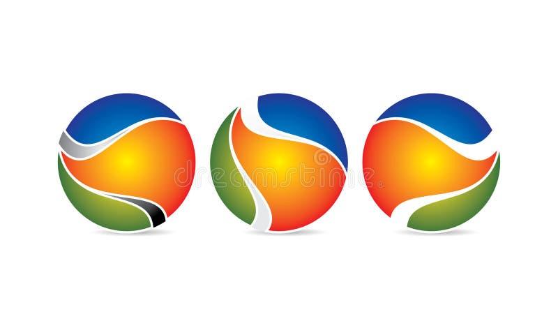 Esfera criativa Logo Template - Logo Design circular arredondado - logotipo de Abstrato Moderno Empresa ilustração do vetor