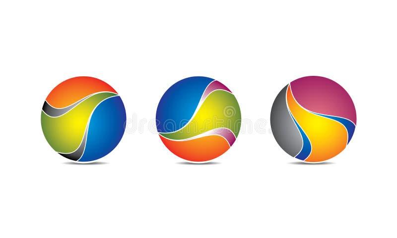 Esfera criativa Logo Template - Logo Design circular arredondado - logotipo de Abstrato Moderno Empresa ilustração stock